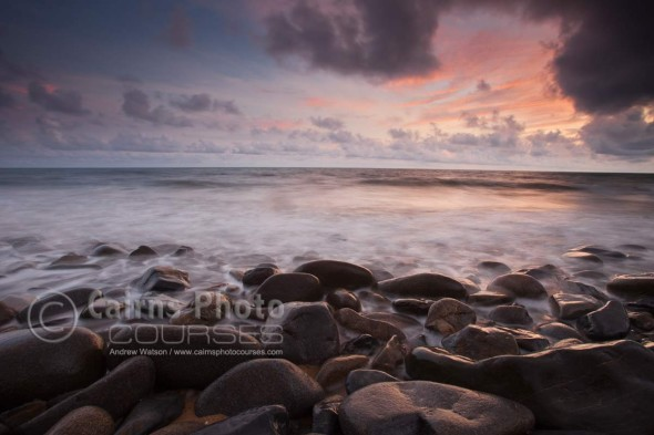 Image of sunrise over the Coral Sea, Port Douglas, North Queensland, Australia