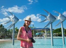 Image of photographer at Esplanade Lagoon, North Queensland, Australia