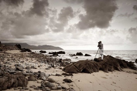 Image of photographer at Red Cliff Point, Port Douglas, North Queensland, Australia