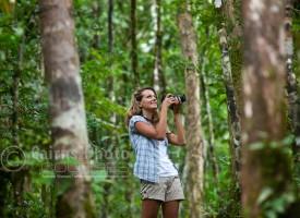 Image of photographer in rainforest at Mossman Gorge, North Queensland, Australia