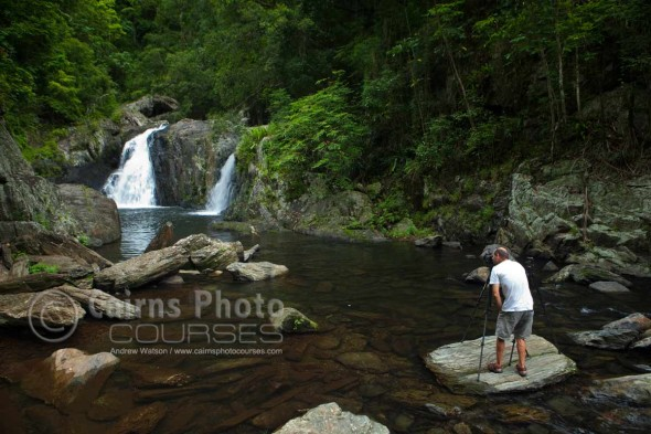 Image of photographer at Crystal Cascades, Cairns, North Queensland, Australia