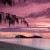 Image of Palm Cove beach and Double Island at dawn, Cairns, North Queensland, Australia