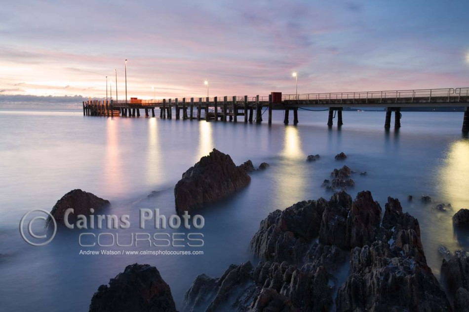 Image of Palm Cove jetty at twilight, Cairns, North Queensland, Australia
