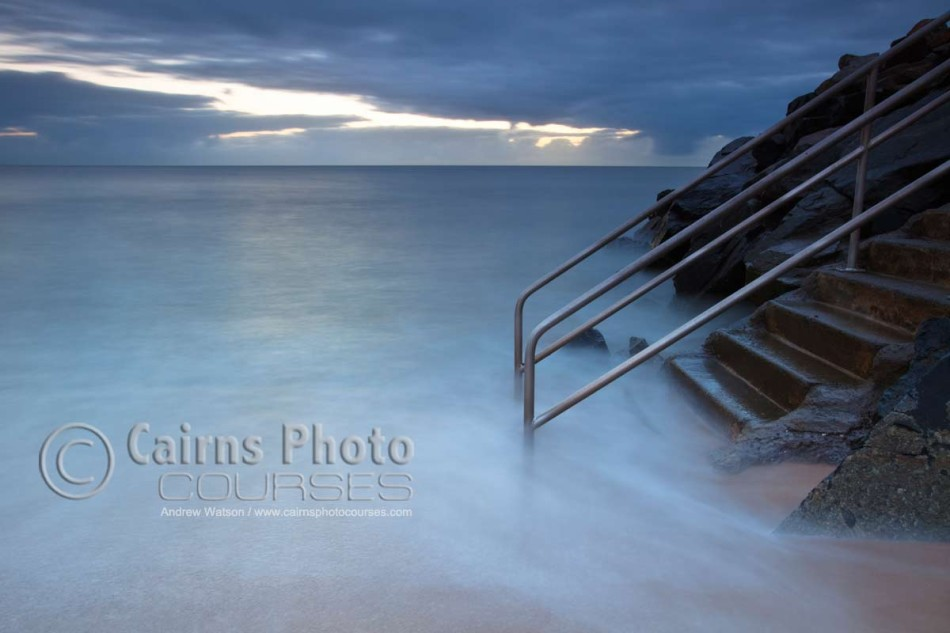 Image of sea steps at Machans Beach, Cairns, North Queensland, Australia