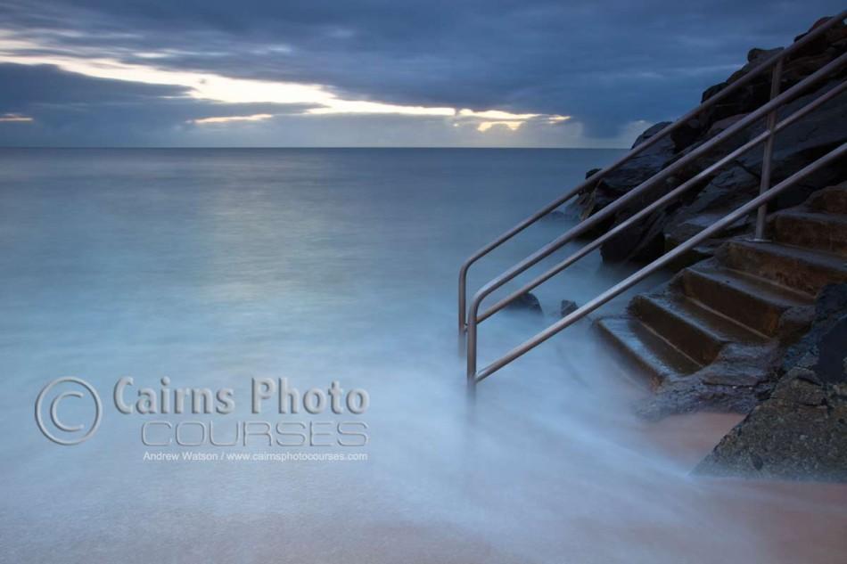 Image of sea steps at Machans Beach, Cairns, North Queensland, Australia