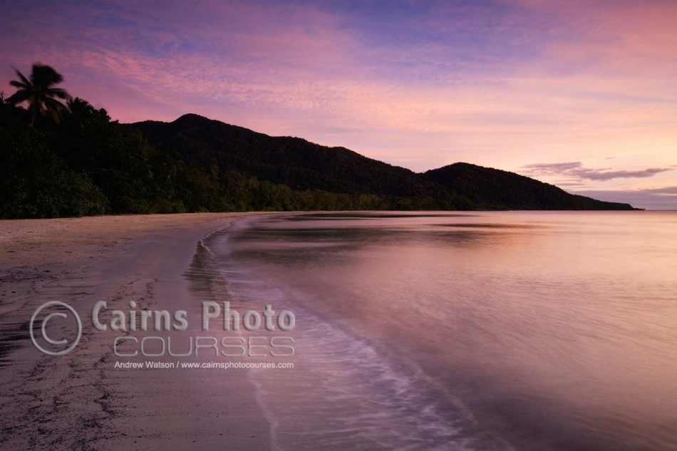 Image of Cape Tribulation beach at dawn, Daintree National Park, North Queensland, Australia