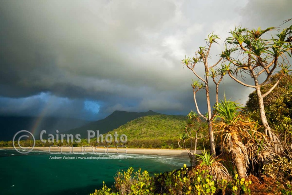 Image of shower over Myall Beach, Cape Tribulation, Daintree National Park, North Queensland, Australia