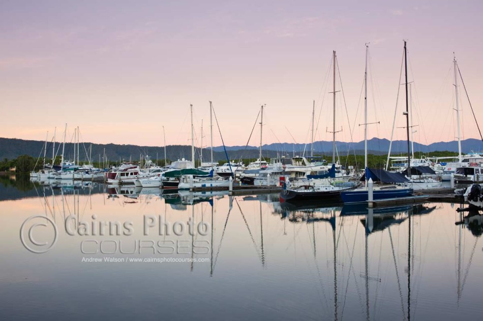 Image of Port Douglas Marina at twilight, North Queensland, Australia