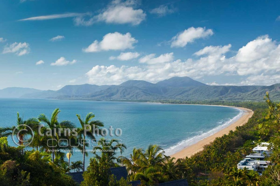 Image of Four Mile Beach viewed from Flagstaff Hill, Port Douglas, North Queensland, Australia