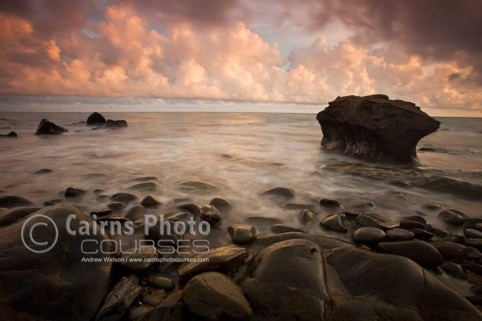 Image of dawn over Coral Sea at Red Cliff Point, Port Douglas, North Queensland, Australia