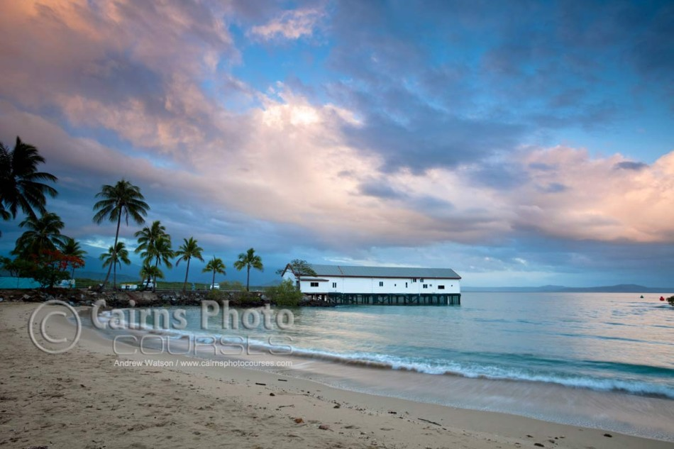 Image of Sugar Wharf at twilight, Port Douglas, North Queensland, Australia