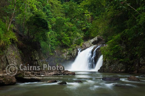 Image of waterfall at Crystal Cascades, Cairns, North Queensland, Australia