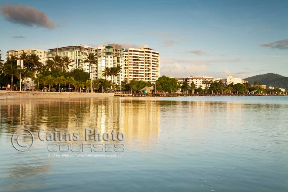 Image of Esplanade skyline at dawn, Cairns, North Queensland, Australia