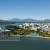 Aerial image of Esplanade waterfront and city skyline, Cairns, North Queensland, Australia