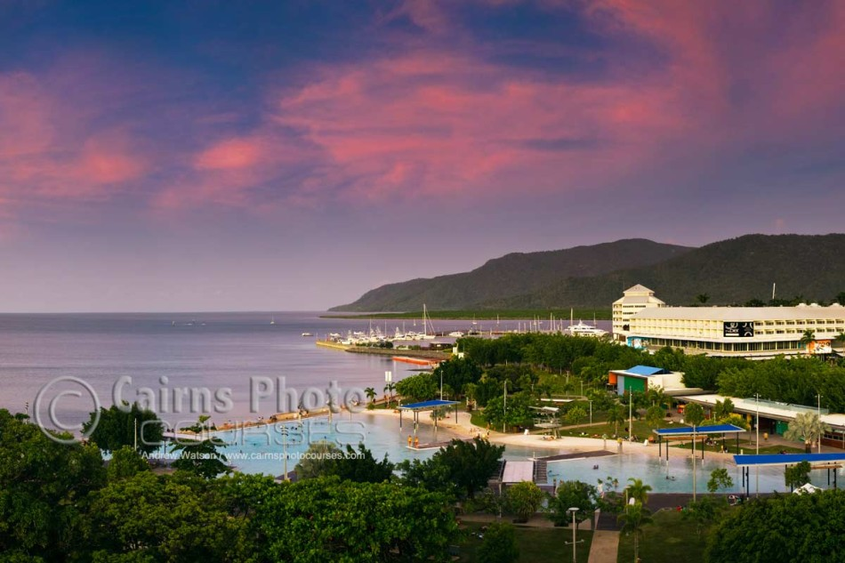 Image of Esplanade Lagoon and The Pier at the Marina, Cairns, North Queensland, Australia