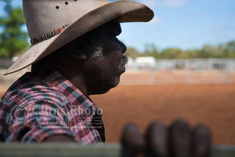 Portrait of an indigenous rodeo cowboy.   Canon 24-105mm lens @ 82mm, f5.6 @ 1/1250 sec, ISO 200
