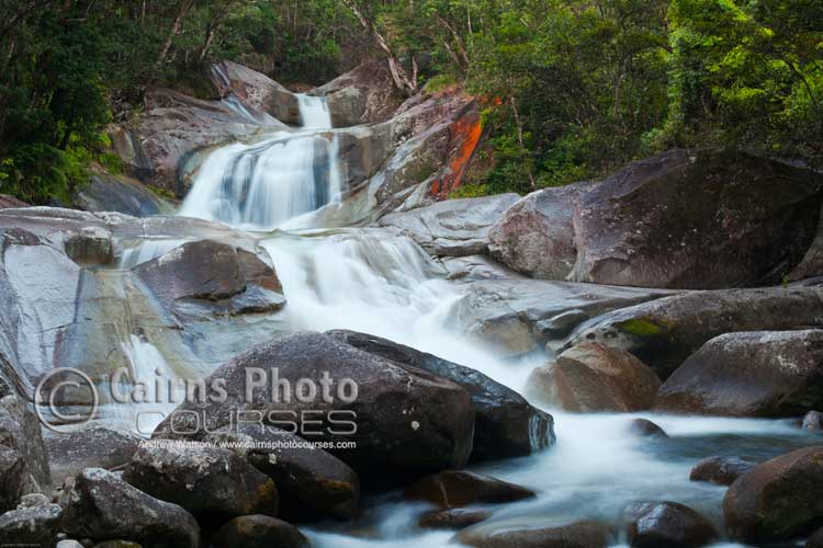 Josephine Falls after monsoonal rains.  Canon 5D MkII, Tripod, 50mm, ISO 100, f16 @ 3.2 sec