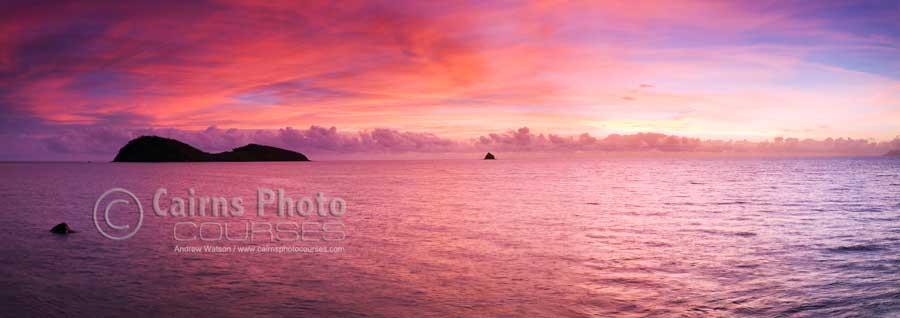 Wet season sunrise over the Coral Sea.  Canon 5D, Tripod, 50mm, ISO 100, f11 @ 1sec